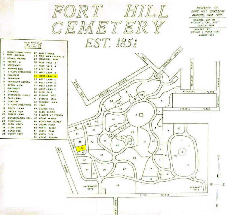 Fort Hill Cemetery Interment Listings